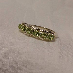 Gorgeous Peridot Sterling Silver Ring